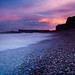 Storm at Sunset, Auchmithie by S i m o n . M a y s o n