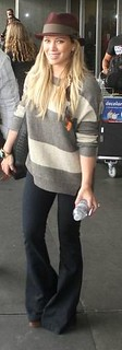 Hilary Duff Flared Jeans Celebrity Style Women's Fashion
