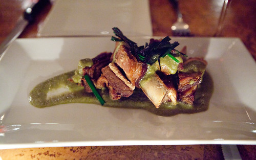 Special of the day: Braised & fried lamb ribs w/green curry and scallions