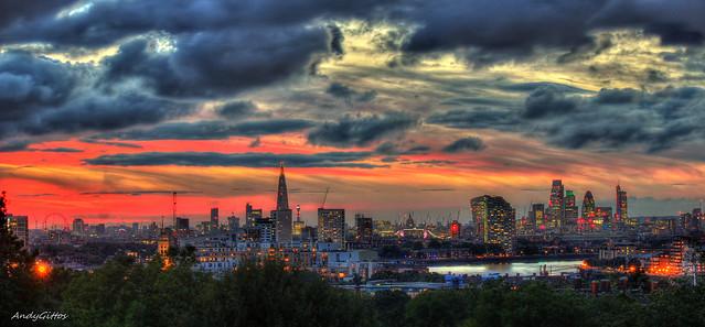 London Skyline Sunset