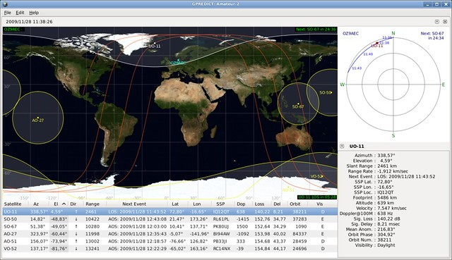 Gpredict Free RealTime Satellite Tracking And Orbit Prediction - Real time satellite images