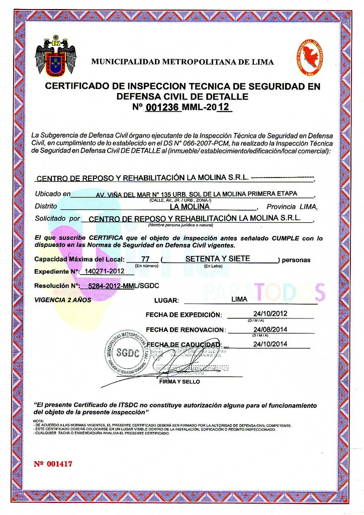 ITSE-│-CERTIFICADO-DEFENSA-CIVIL-│-Rehabilitacion
