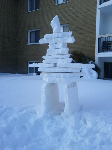 snow inuksuk