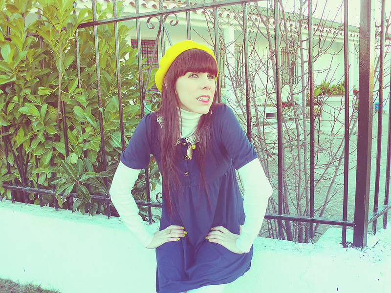Madeline Inspired: Blue Dress, Yellow Beret