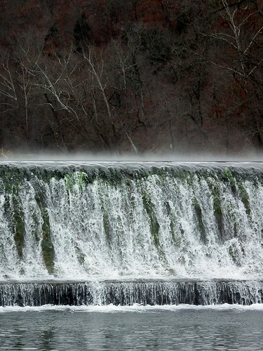 park trees mist nature water fog waterfall dam missouri ozarks bennettsprings naturegurl01