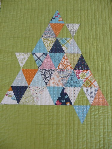 Triangles quilted