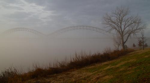 morning ohio fog sunrise river day foggy indiana pwfall