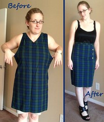 Plaid Pencil Skirt Before & After