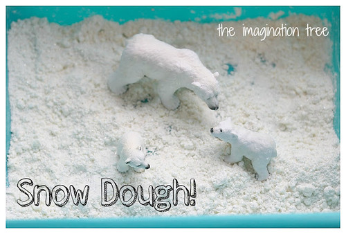 Homemade Snow Dough (Photo from The Imagination Tree)