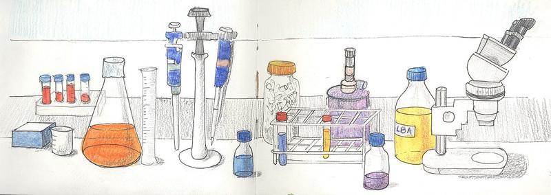 Mi mesa del laboratorio