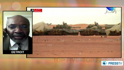 Abayomi Azikiwe, editor of the Pan-African News Wire, featured on Press TV World News discussing the Algerian military operations at the In Amenas gas field in the Sahara. The program aired on January 18, 2013. by Pan-African News Wire File Photos