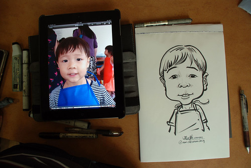 caricature sketching for a birthday party 07072012 - 6