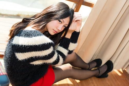 [フリー画像素材] 人物, 女性 - アジア, 台湾人, セーター ID:201302280800