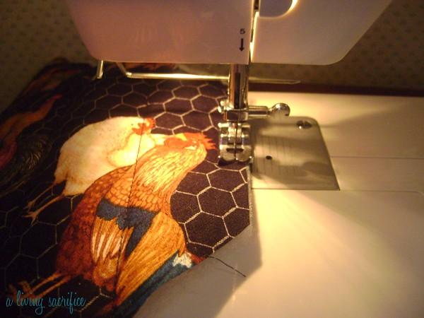 stitch around edge