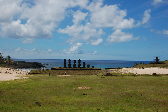 Ahu at Anakena Beach