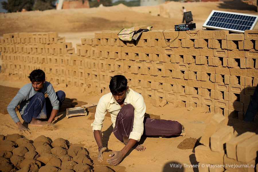 Brick production, Rajhastan