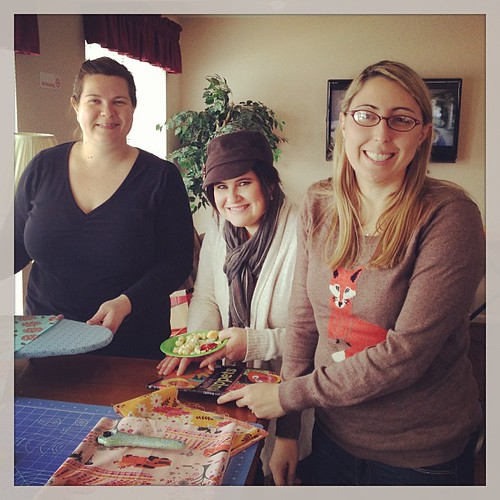 Erin, @hitched_and_stitched and @alli518 gettin' their craft on!!! #meandelna #ohcraft