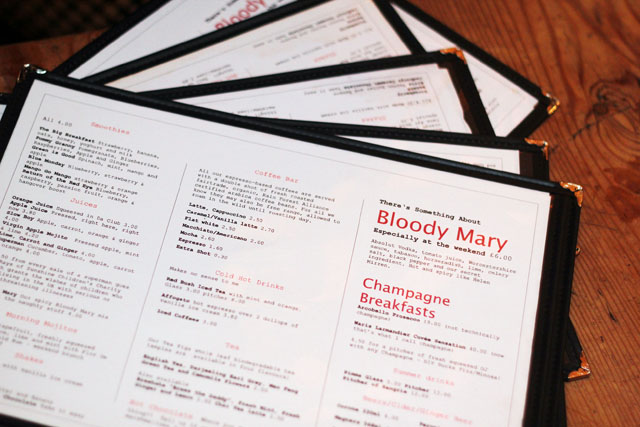 breakfast club menus hoxton