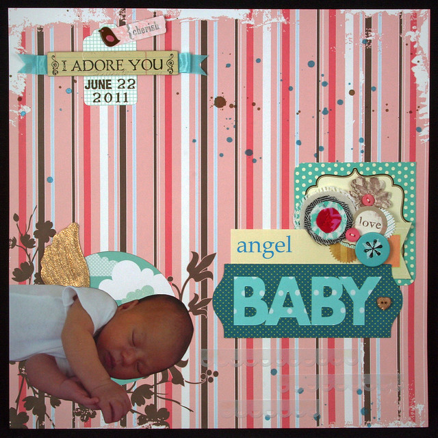 Angel Baby Layout | shirley shirley bo birley Blog