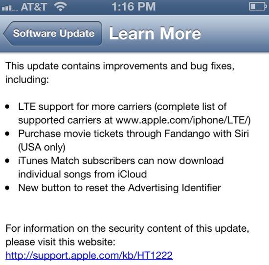 iOS 6.1 для iPod
