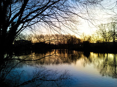 Hampstead Lake Sunset
