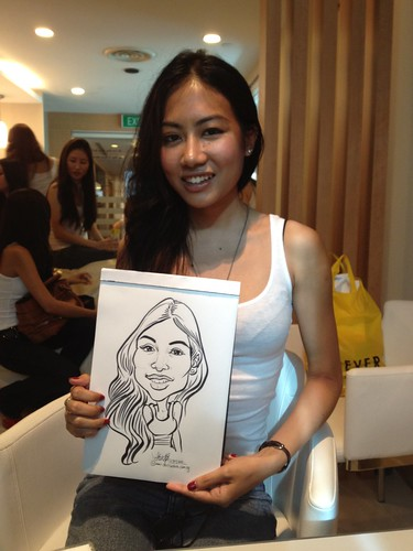 caricature live sketching for Orchard Scotts Dental for Miss Universe Singapore - 6