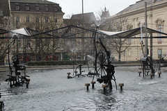 View of Tinguely Fountain (1977)