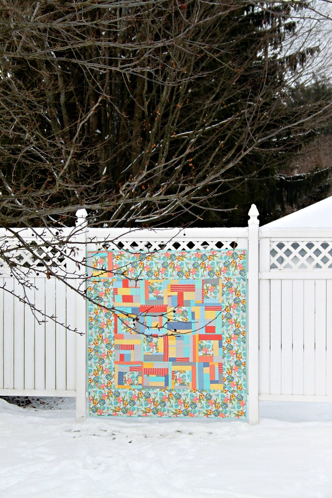 Improv & LillyBelle QAYG finished quilt