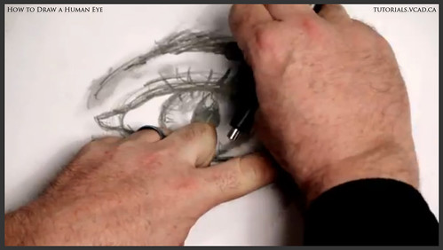 learn how to draw a human eye 024