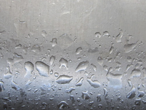 Waterdrops on Metal Background
