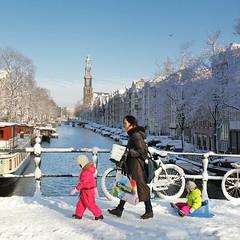 Beautiful Amsterdam in the winter