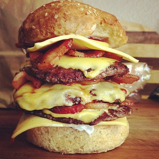 Ridiculous Cheeseburger with Bacon