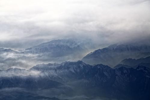 [フリー画像素材] 自然風景, 山, 霧・霞, 風景 - 中華人民共和国 ID:201302151200