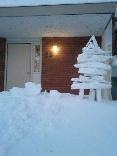 Snow Inukshuk