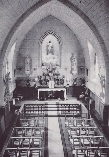 c1958. The Chapel of the St Louis Convent in Juilly, France