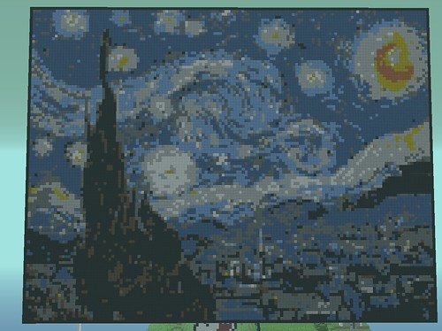 Starry Minecraft Night