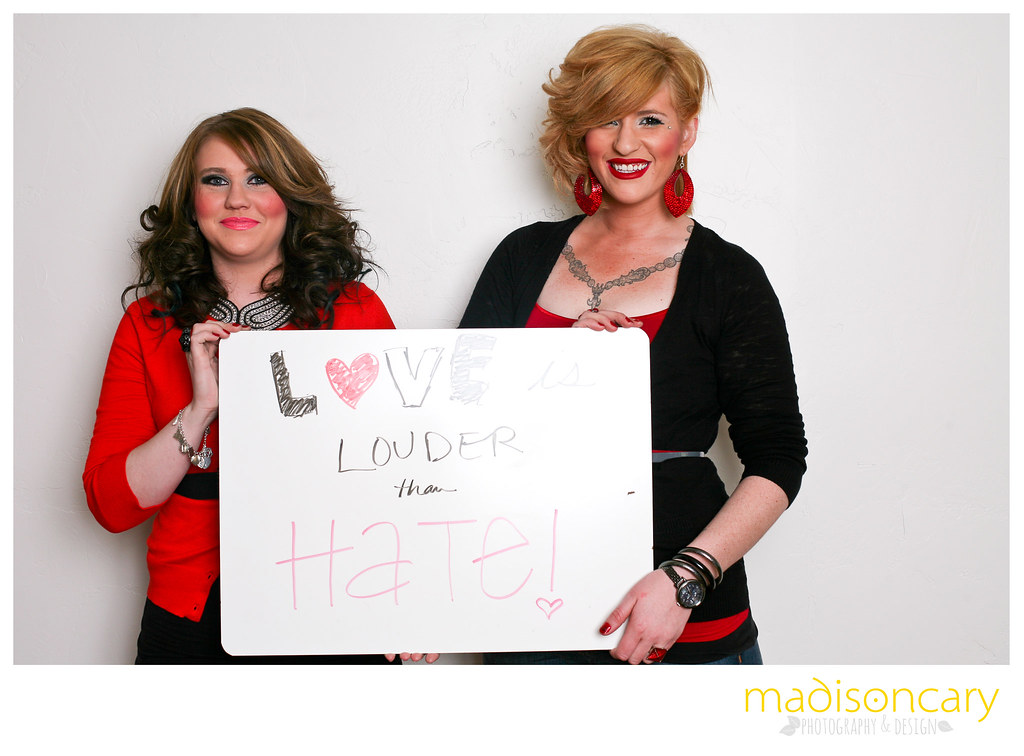 love is louder than hate antibullying campaign phtotography