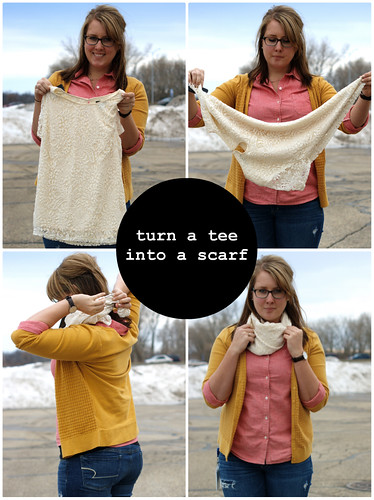 turn a tee into a scarf