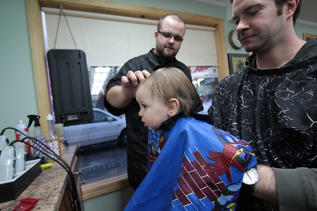 Noah's First Haircut