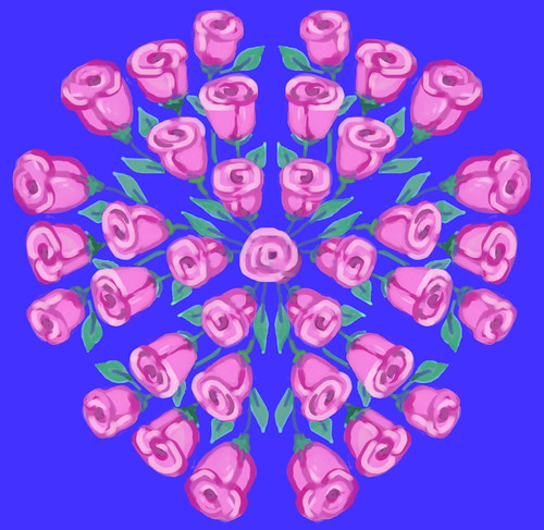 Kaleidoscope Roses  (Revised Version) by randubnick
