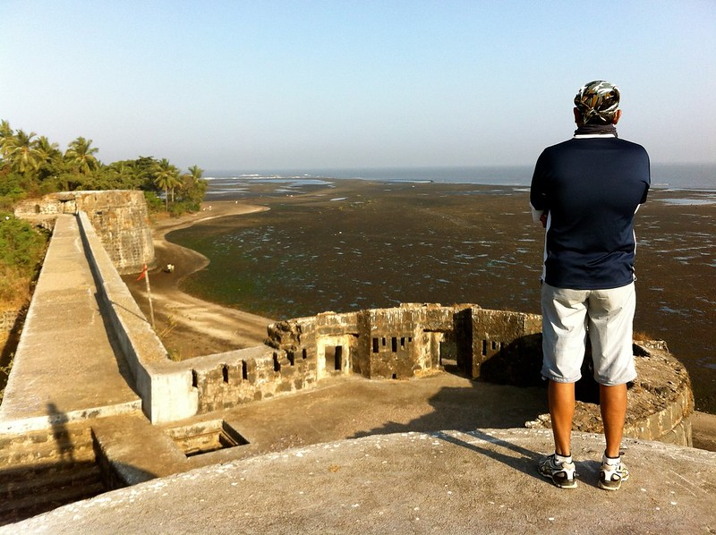 Enjoying the view at Arnala fort