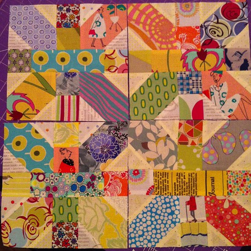Four blocks now by Scrappy quilts
