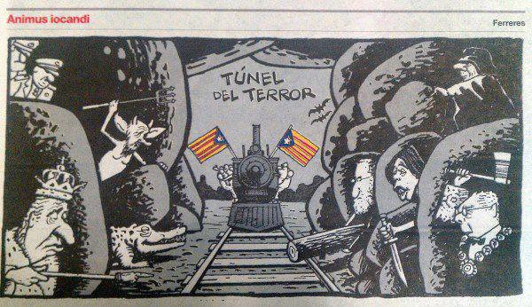 2012-09-24 - Diada Catalunya. POST. Tunel Terror (Ferreres. Humor)