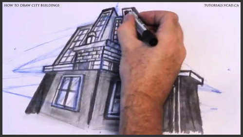 learn how to draw city buildings 042