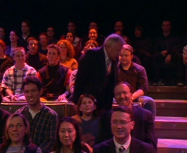 In the audience at The Micallef Programme, 1999