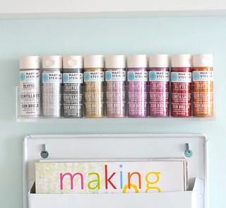 My DIY acrylic wall shelf for paint