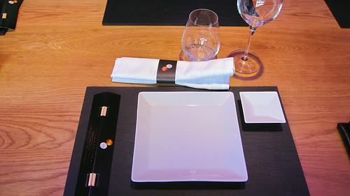 Decoración de la mesa - Restaurante Shibui Bilbao