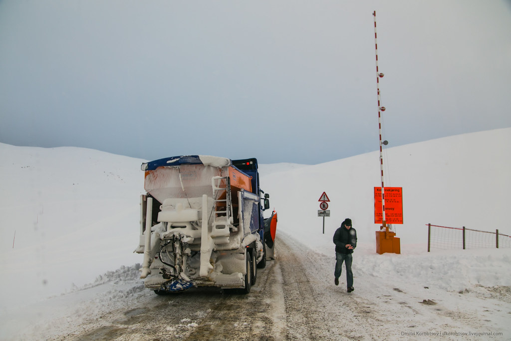 Convoy on a way to Nordkapp