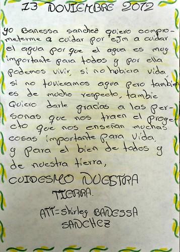 Carta de Amor de Shirley Banessa Sanchez, del municipio de Angelópolis