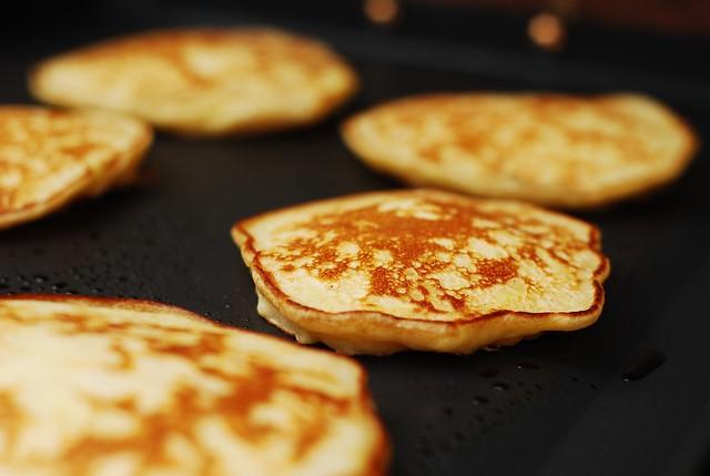 Making apple cinnamon pancakes